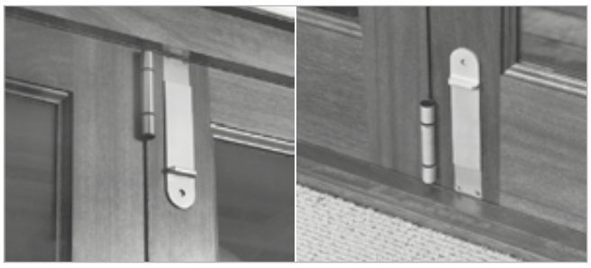 Rail n Stile Bi-Fold Doors Flushbolts For Outswing Folding Doors