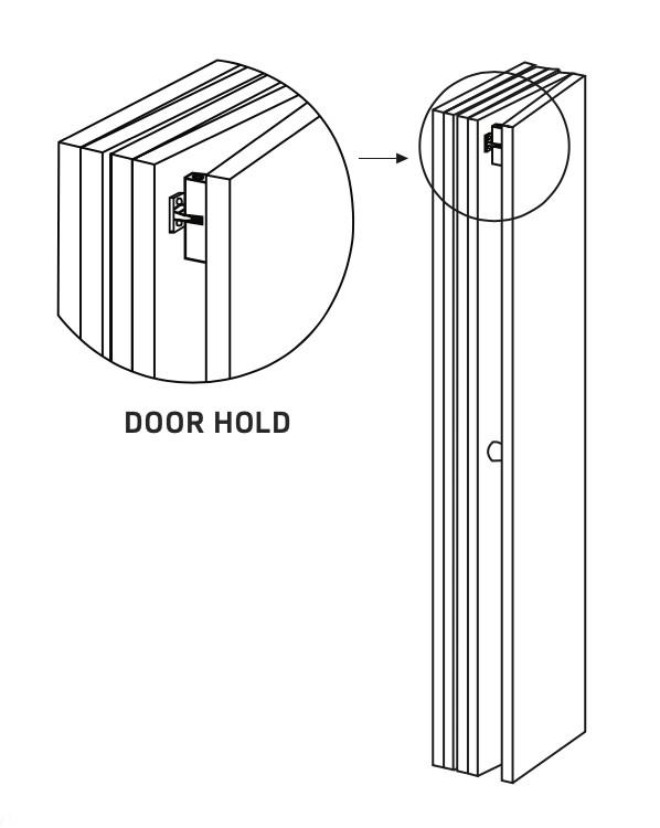 Door Hold For Exterior Folding Doors