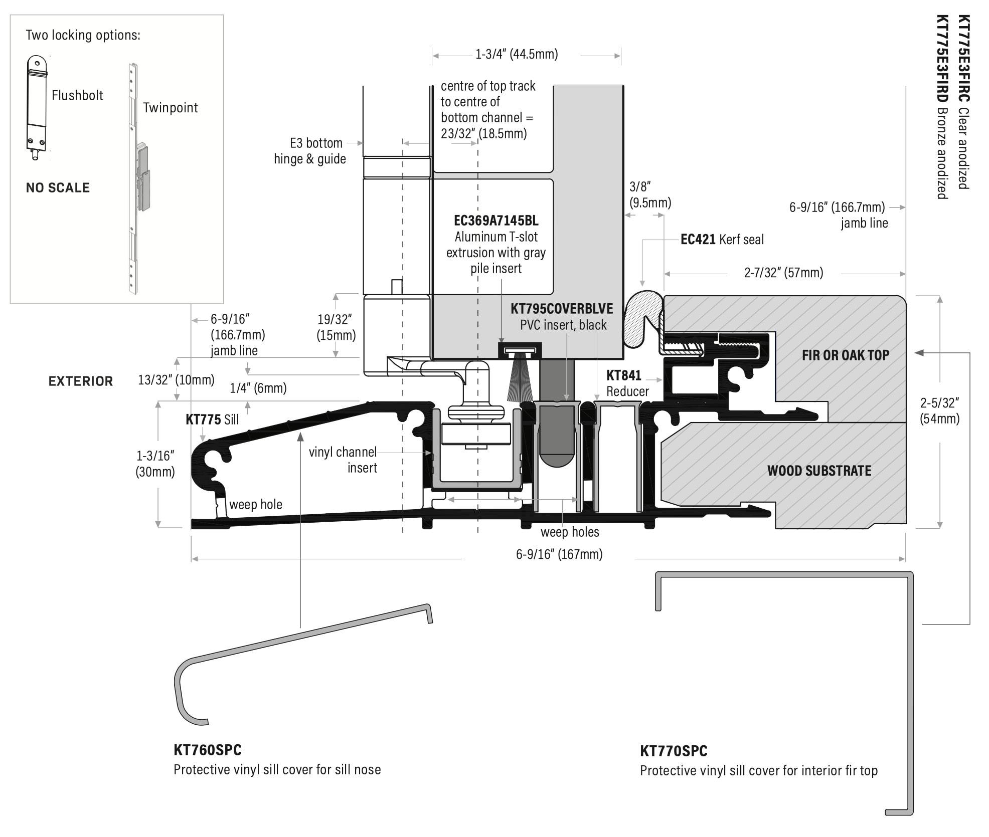 Bi-Fold Doors outswing sill system